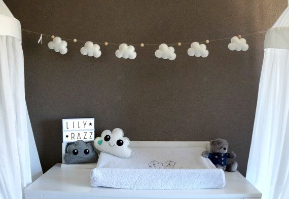 This neutral cloud garland will never go out of style!
