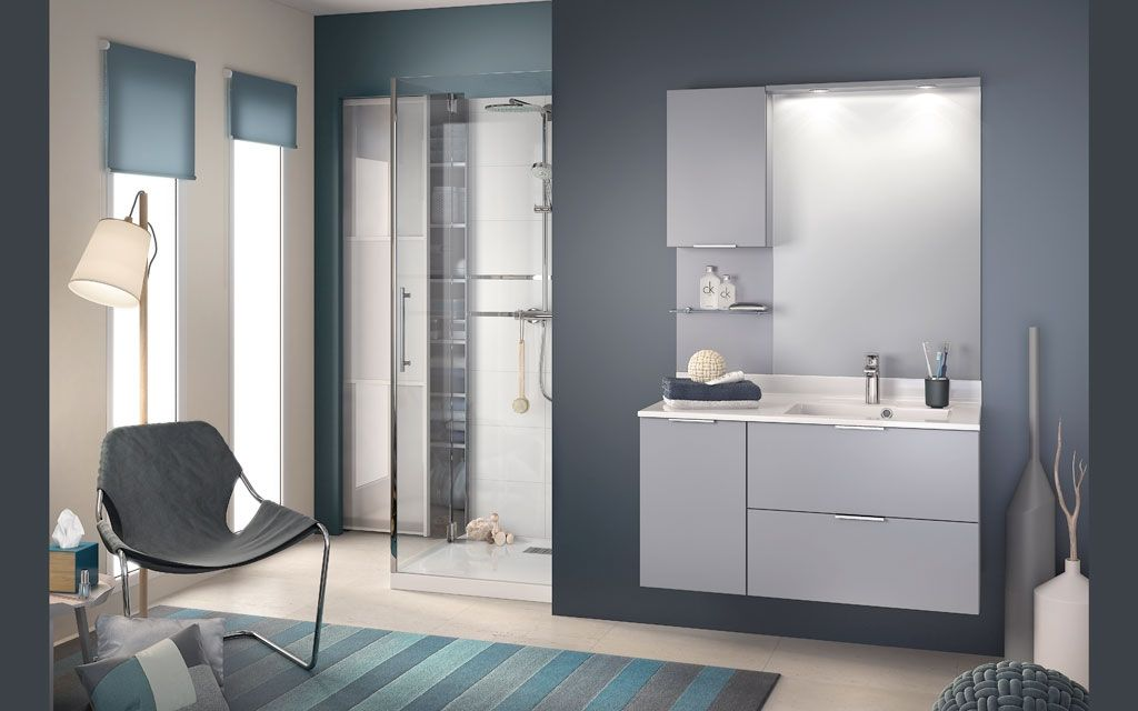 meuble salle de bains avec plan vasque evolution e105mmd. Black Bedroom Furniture Sets. Home Design Ideas