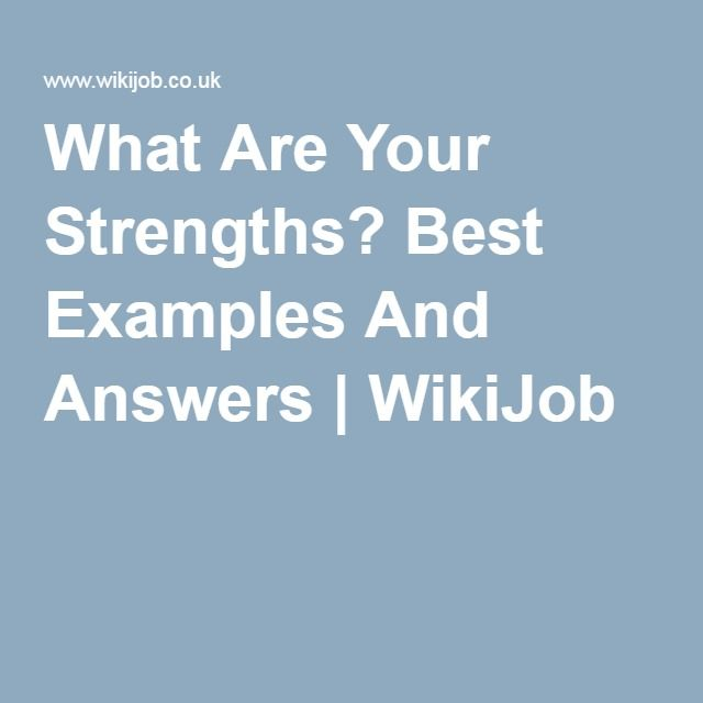 Career Strengths Examples | colbro.co
