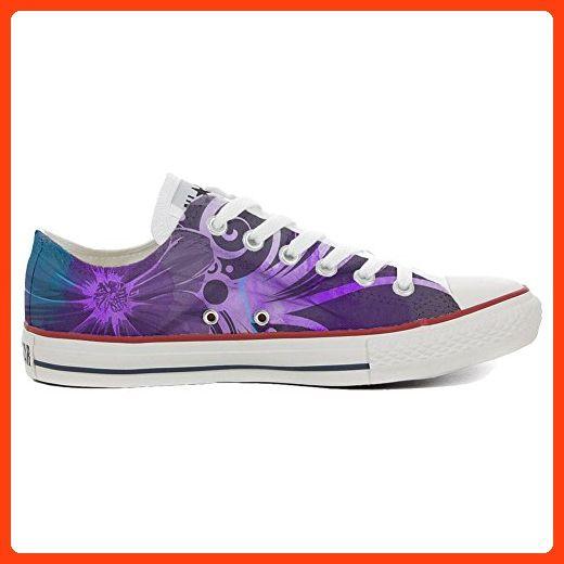Converse Custom Slim personalisierte Schuhe (Handwerk Produkt) Purple Paisley  42 EU