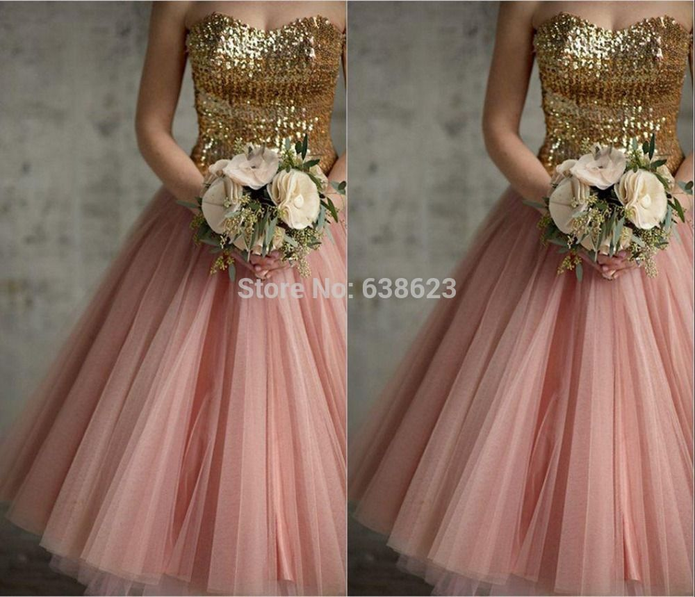 Dab2444 free shipping new lace up back gold sequins pink tulle tea cheap dress student buy quality dress ceremony directly from china dress long sleeve tunic dress suppliers 2014 bridesmaid dresses srapless backless gold ombrellifo Choice Image