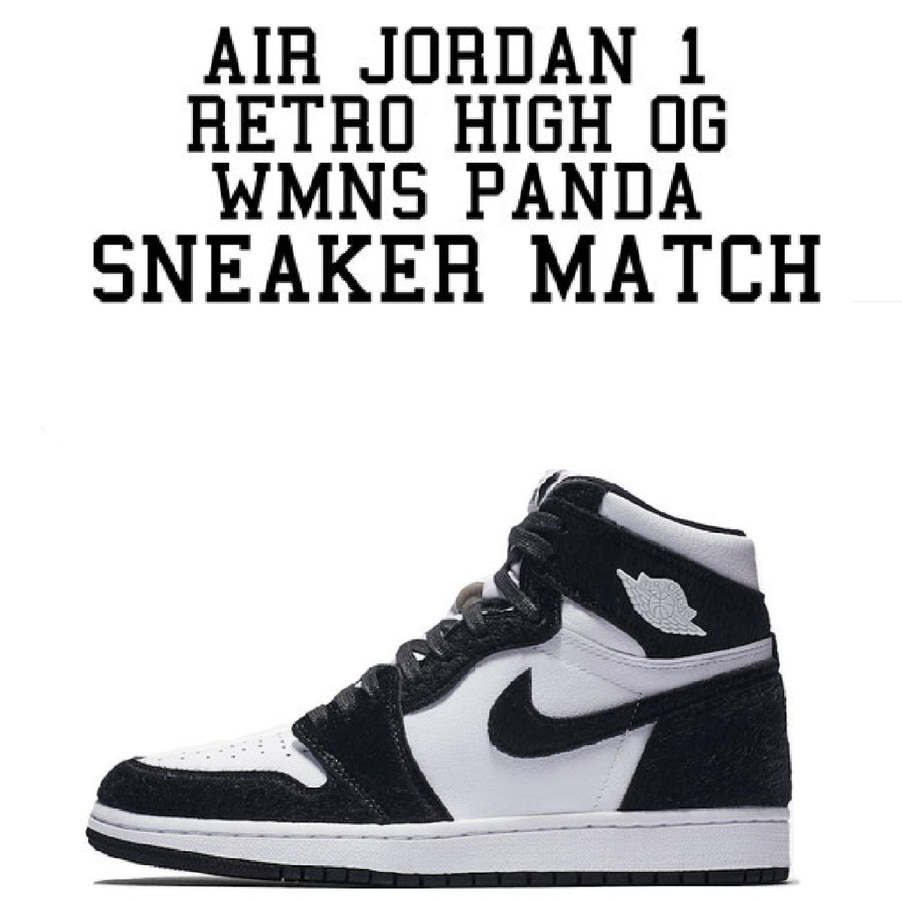 """WMNS Air Jordan 1 Retro High OG """"Panda"""" EUKICKS Womens"""