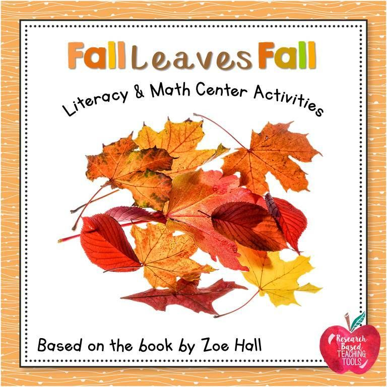 Fall Leaves Fall Literacy and Math Center Activities | ***All things ...
