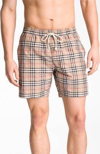 Swim Shorts Trunks for Men On Sale, Navy Blue, polyestere, 2017, L Burberry