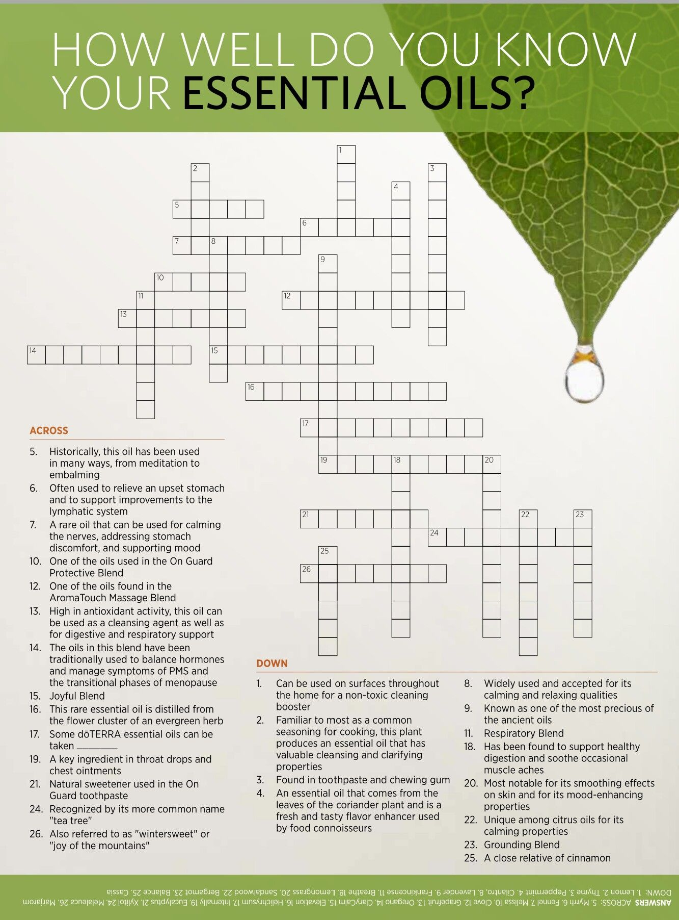 Great game for a doTERRA essential oil class. Contact me to set up ...