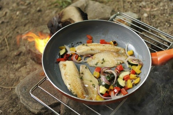 Cooking Fish On Campfire The Biggest I Ever Caught Was A Walleye