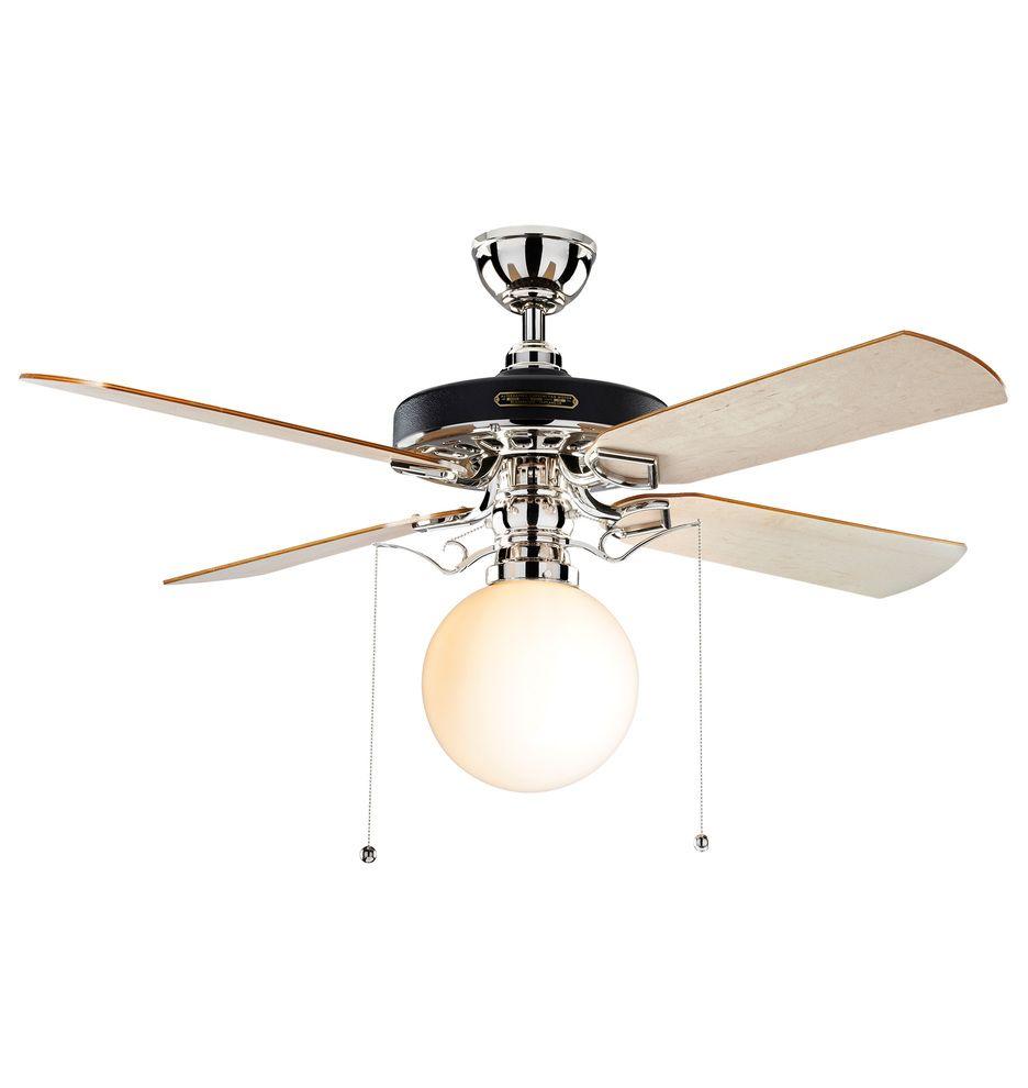 Heron Ceiling Fan With Opal Globe Shade 4 Blade Ceiling Fan With Light Kit Rejuvenation Ceiling Fan Ceiling Fan With Light Fan Light