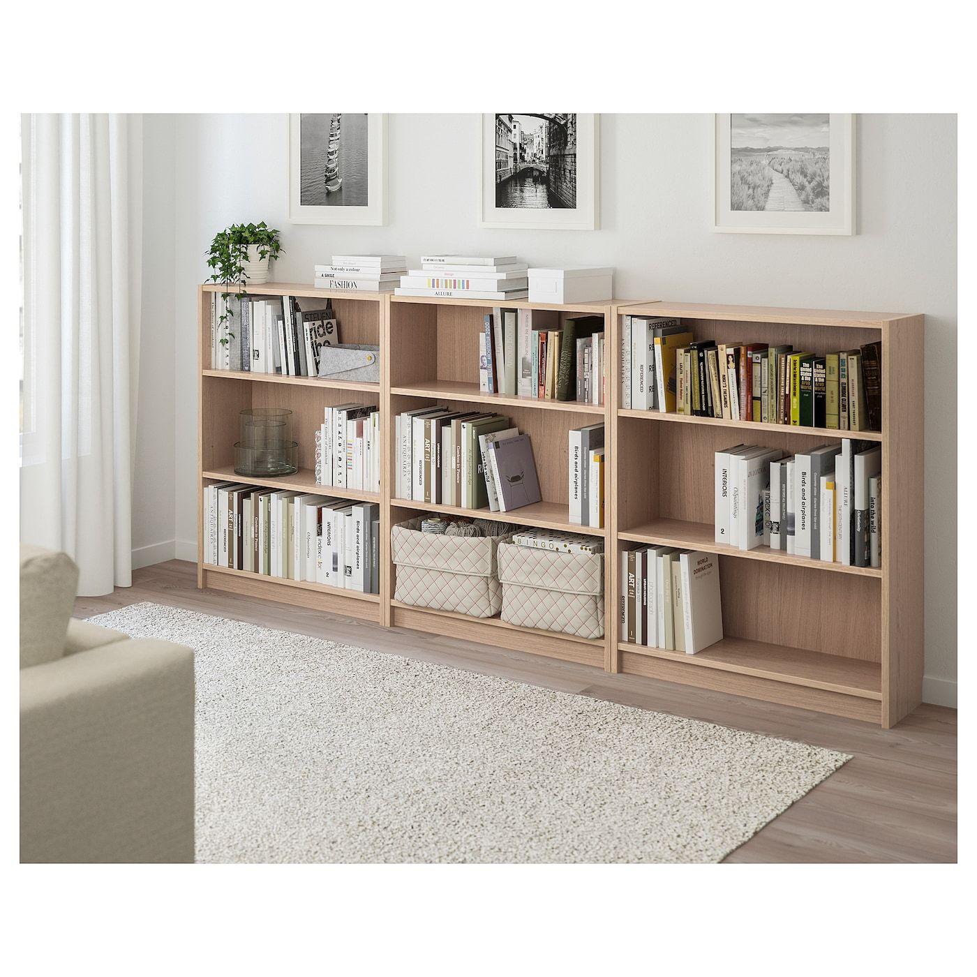 Billy Bookcase White Stained Oak Veneer 240x28x106 Cm Nel 2020 Scaffali Per Camera Da Letto Scaffali Per Libri Idee Ikea