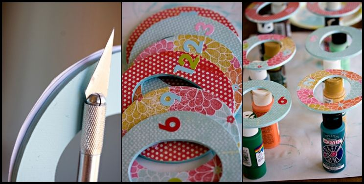 DIY closet dividers, perfect for baby clothes to divide up