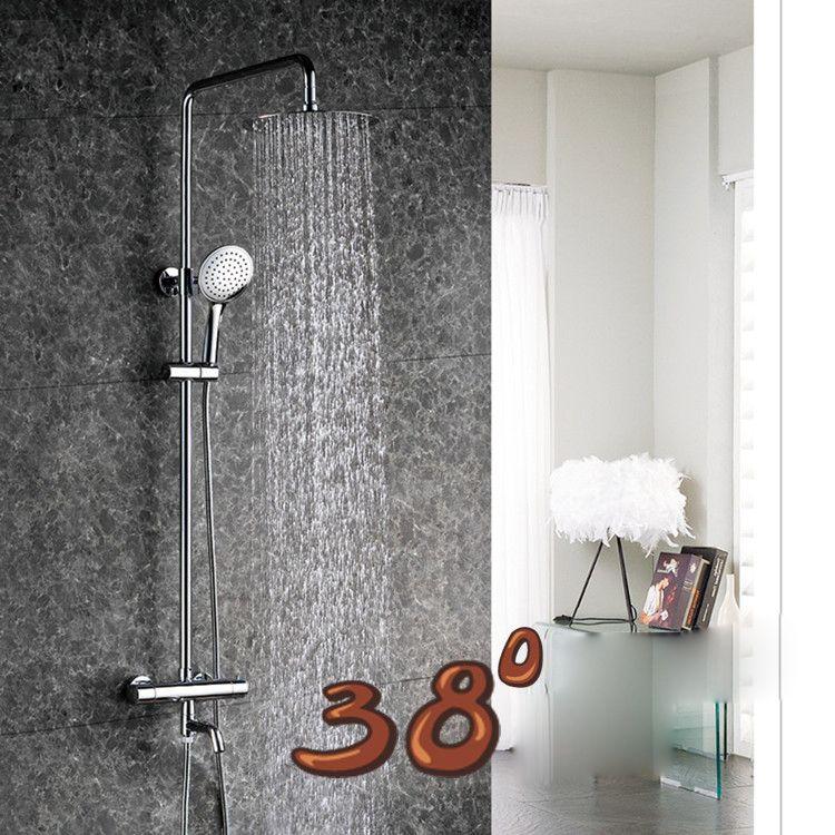 Luxury High Quality Chrome Finish Ultra-thin Rain Shower Faucet Set ...