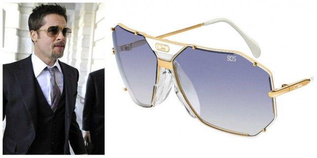 82c323ccb61b Cazal sunglasses on Brad Pitt. Freshen up that suit!