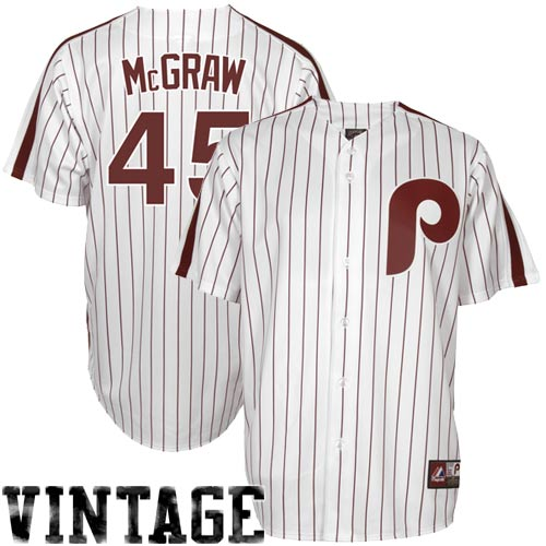 151fc75a6aa Tug McGraw Philadelphia Phillies Majestic Cooperstown Collection Throwback  Jersey - White Pinstripe ...