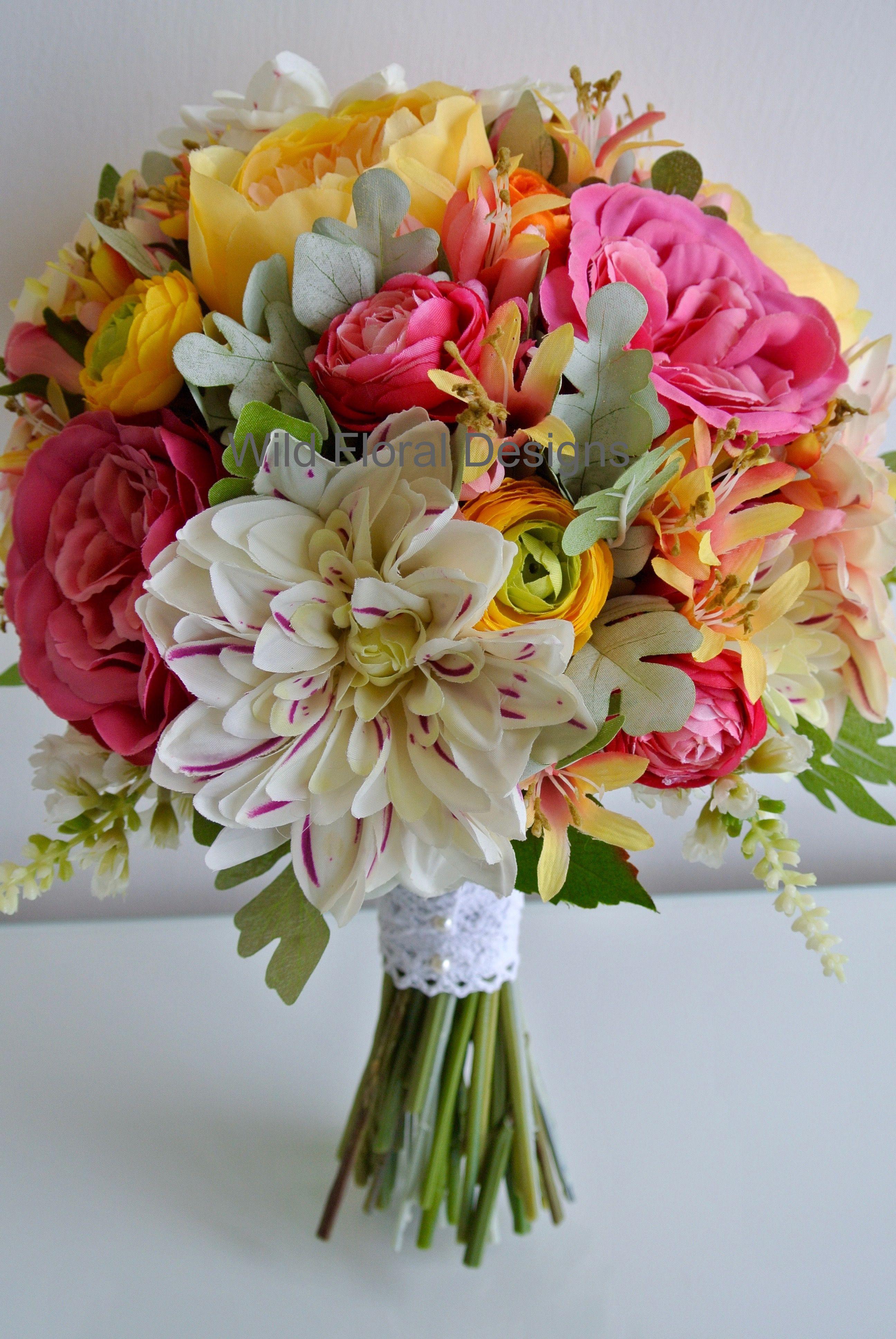 Summer Wedding Flower Faux Artificial Alternative Wedding