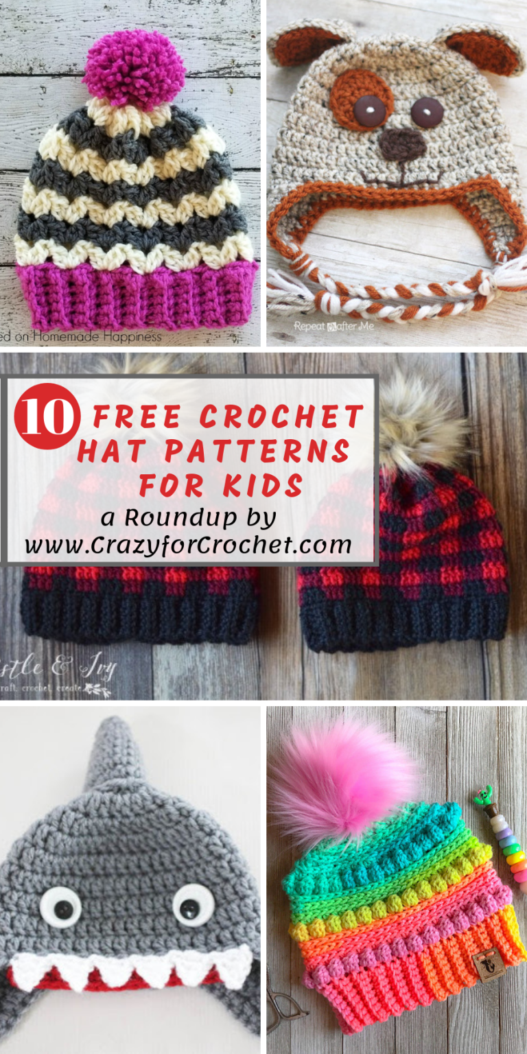 a94bd37abcc5 Keep their Heads Warm! 10 Free Crochet Hat Patterns for Kids ...