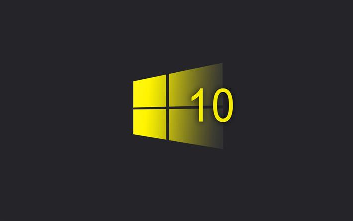 Download Wallpapers Windows 10 Yellow Creative Logo Minimalism Emblem Besthqwallpapers Com Wallpaper Windows 10 Windows 10 Windows Desktop Wallpaper