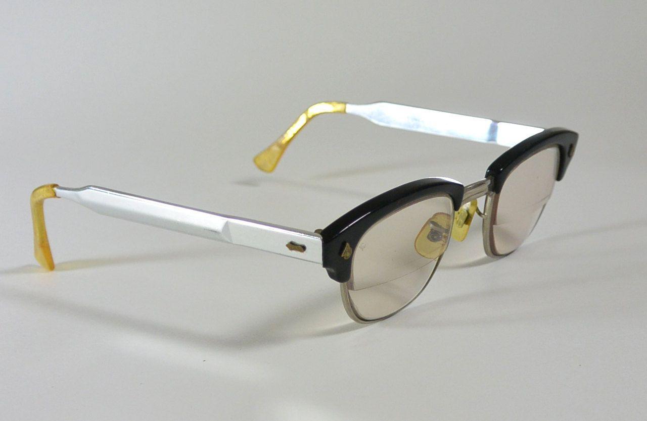 True Vintage 1950s AMERICAN OPTICAL Eyeglasses Browline Malcolm X ...