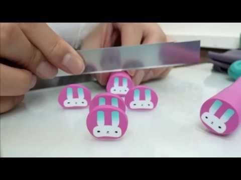 Polymer clay tutorial, Baby Bunny cane! 폴리머클레이 강좌 아기 토끼 케인 만들기.