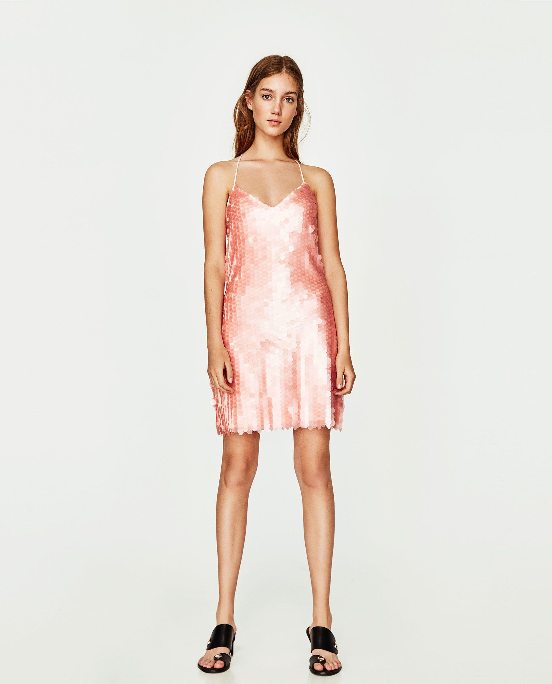 ZARA - WOMAN - MATTE SEQUINNED DRESS 4cec9008379e