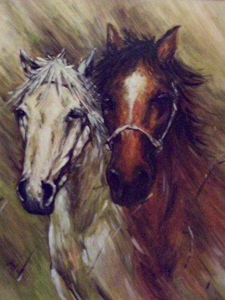 Caballos...(pintura)