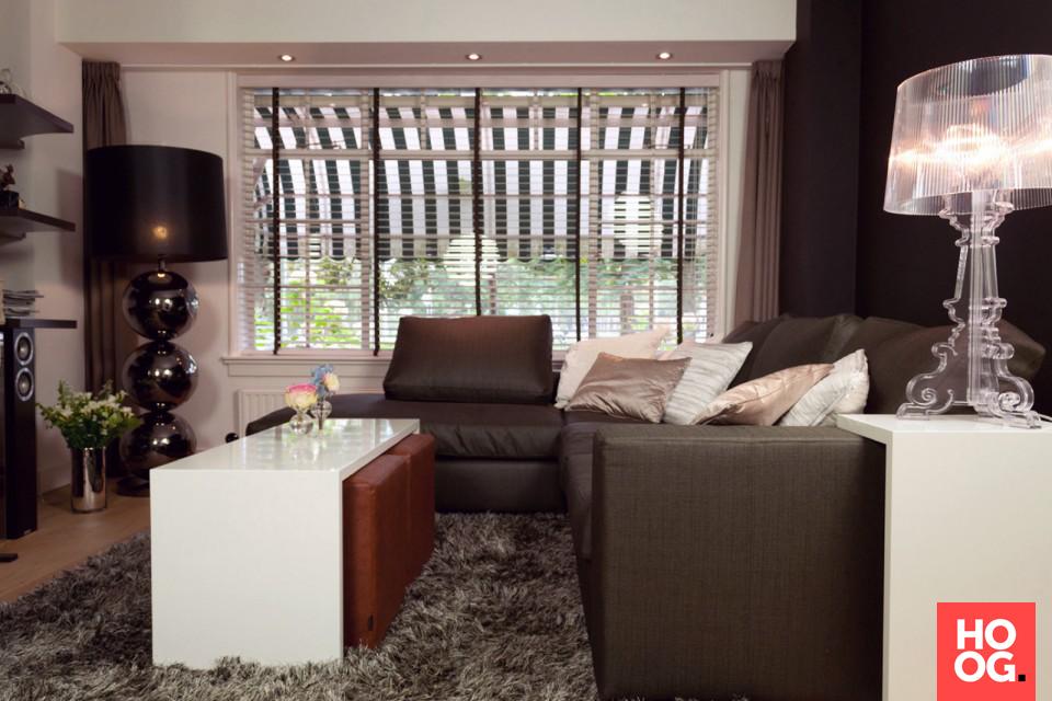 Ideeen Verlichting Woonkamer : Luxe woonkamer met design meubels en design verlichting