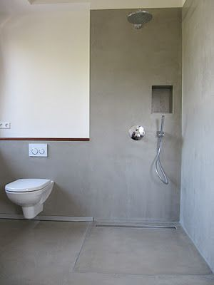 offene dusche betonboden open shower pinterest badezimmer bad und baden. Black Bedroom Furniture Sets. Home Design Ideas