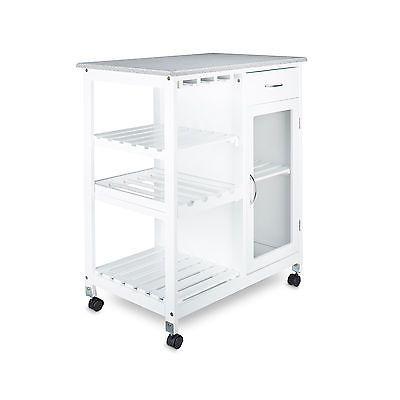 desserte de cuisine lot chariot meuble de cuisine roulette tage bois blanc in maison. Black Bedroom Furniture Sets. Home Design Ideas