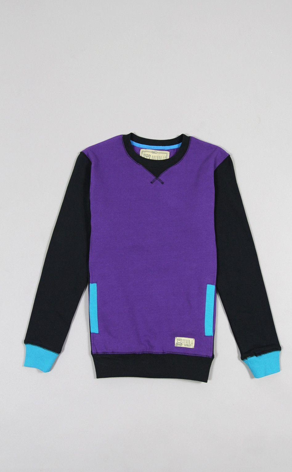 Entree LS Womens Mikkusu Purple Crewneck Sweatshirt  5d9bf4e6a