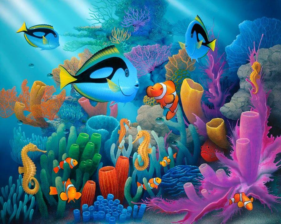 краски подводного мира картинки кольцо необходимо время