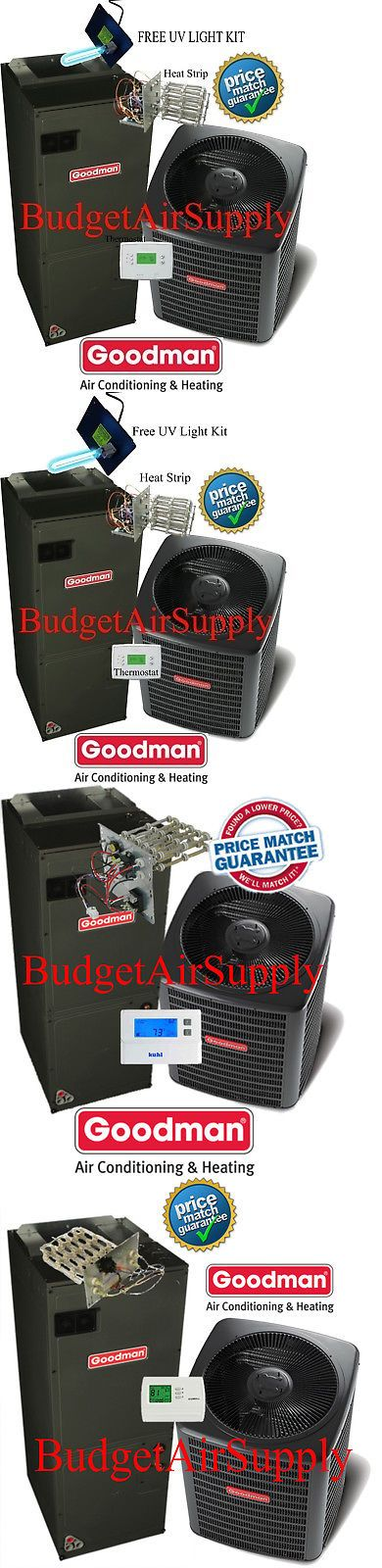 Central Air Conditioners 185108 2 5 Ton 16 Seer Goodman Heat Pump System Gsz160301 Aspt37c14 Tstat Heat Pump System Goodman Heat Pump Central Air Conditioners