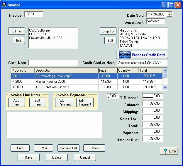 Small Business Invoice Software Httpwwwlonewolfsoftwarecom - Invoice programs for small business
