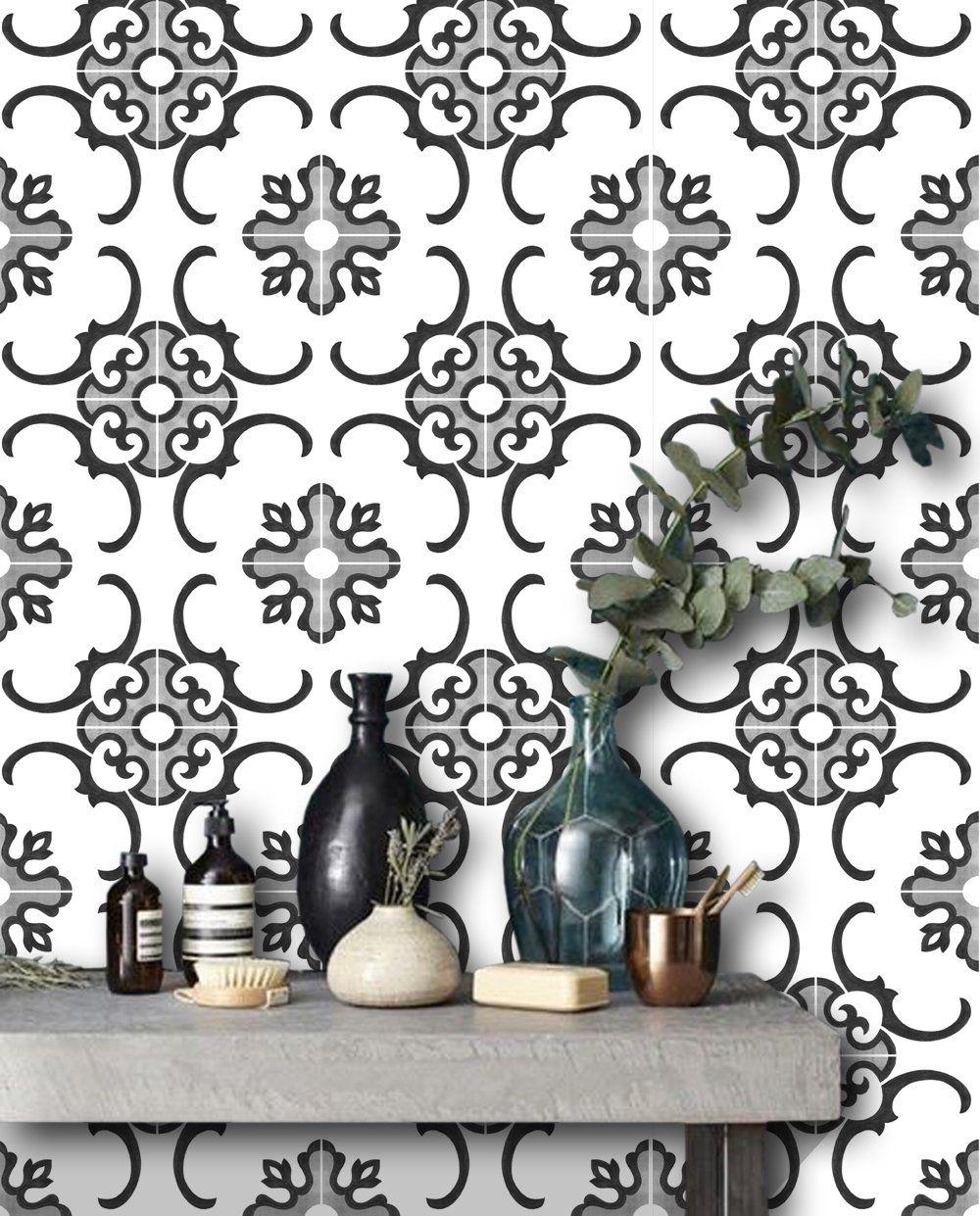 Milano Wallpaper Floor decal, Floor stickers, Stick on tiles