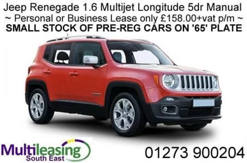 Stock Available Jeep Renegade 1 6 Multijet Longitude 5dr Manual