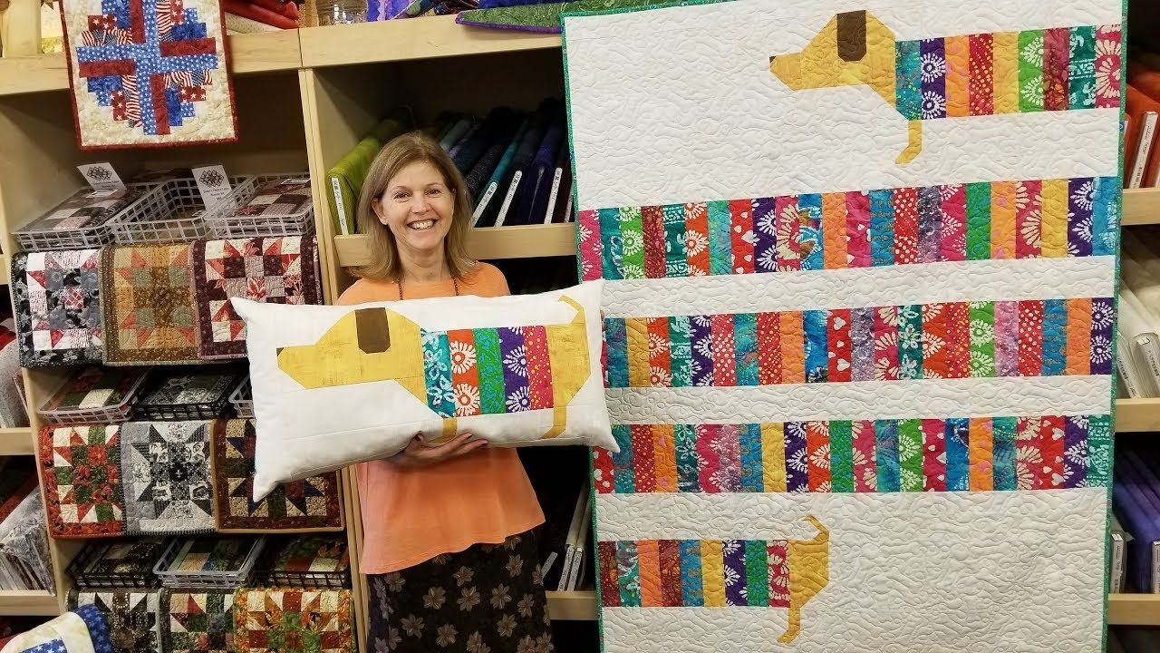 Wiener Dog Quilt? All Wrapped Up Pattern! - YouTube | Quilting ... : youtube quilting ideas - Adamdwight.com