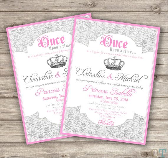 princess invitations printable pink silver birthday invitations baby