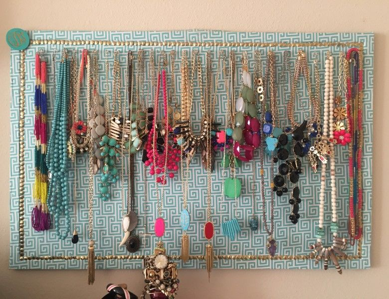 How To FabricCovered Corkboard Jewelry Organizer Fabric covered