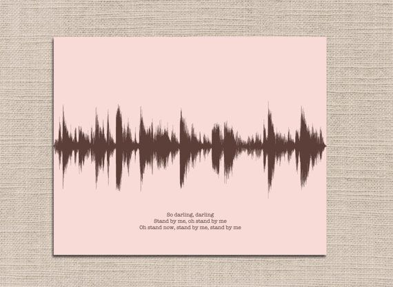 Your Custom Song Lyric Sound Wave Art Print Is A Unique