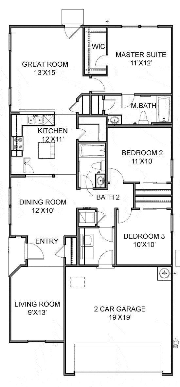 Centex Homes Marche Floor Plan Floor Plans House Floor Plans Floor Plan Design