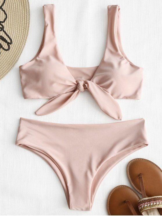 473c635fd3 Up to 80% OFF! Front Knot Padded Bikini Set.  Zaful  Swimwear