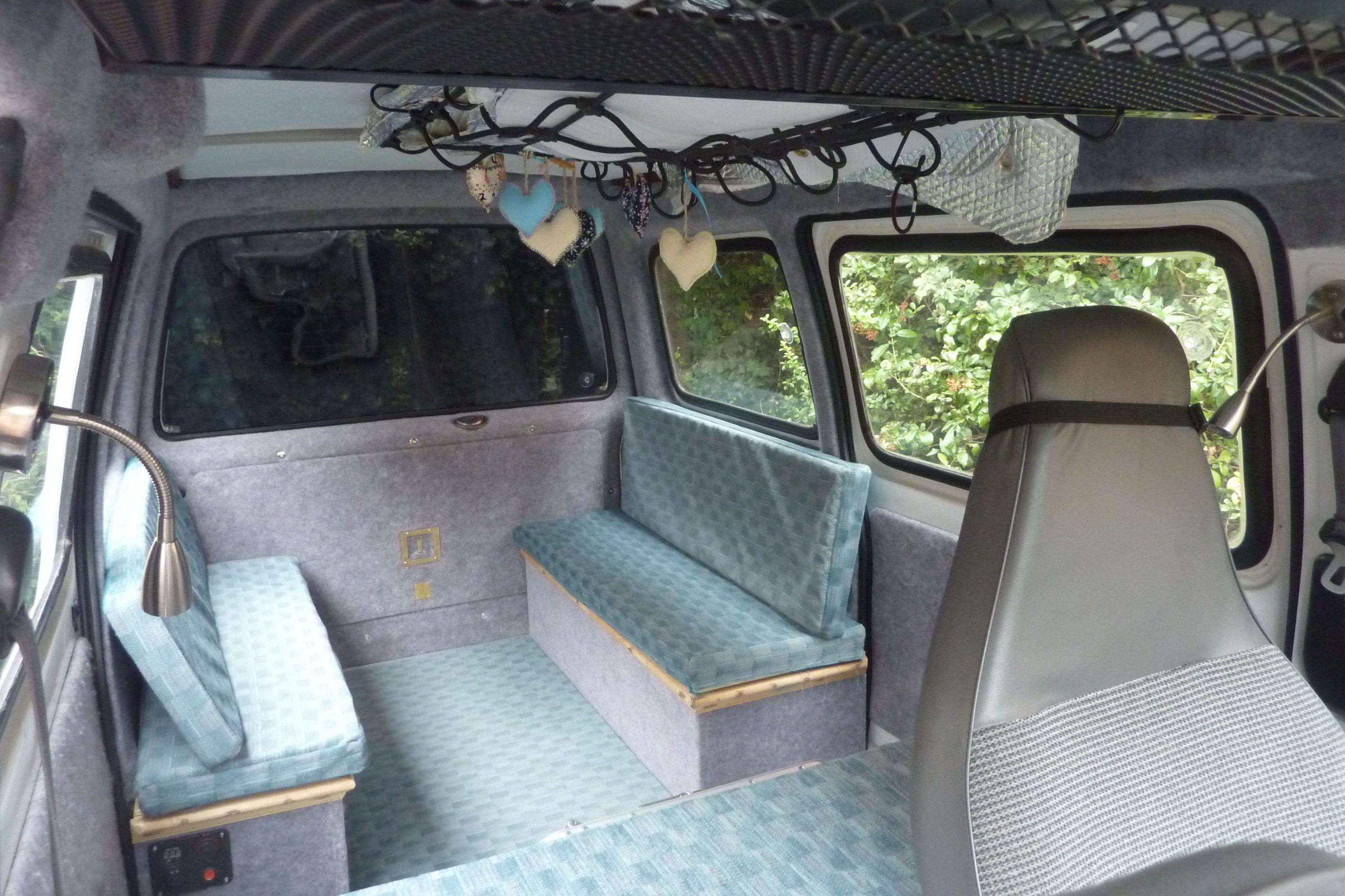 Suzuki Super Carry Camper Van Conversion From A 9 Seater Minibus For Children The Floor Is In Two Section Camper Van Conversion Van Conversion Sliding Doors