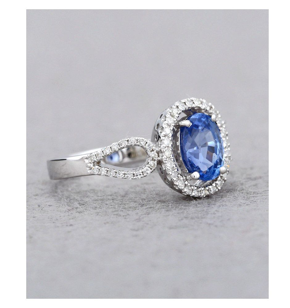 new blue natural item for in ring rings engagement gift fine women sliver party gemstone from gvbori jewelry wedding sapphire