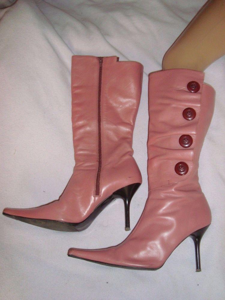 ROBERTO VIANNI  UK 7 EU 41 Pink Leather  Boots RRP £100.00 | eBay