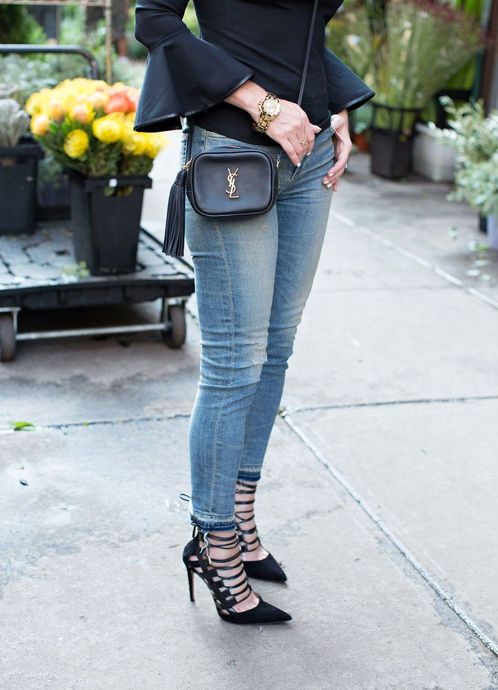 YSL Blogger Bag In Black With A Tassel Love This For