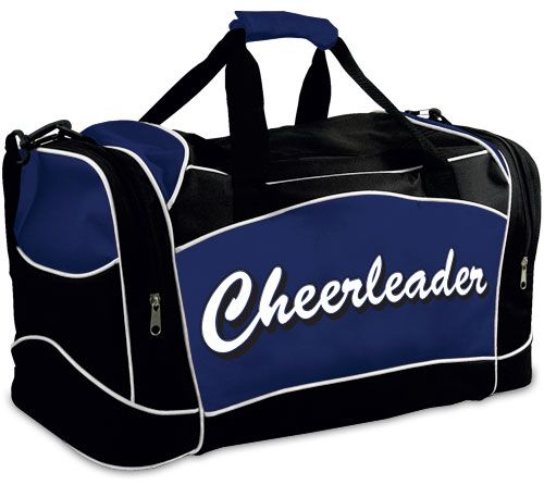 16.95 - Travel Bag with Cheerleader Imprint by Chassé (item  B511 ... 7e2b931c37930