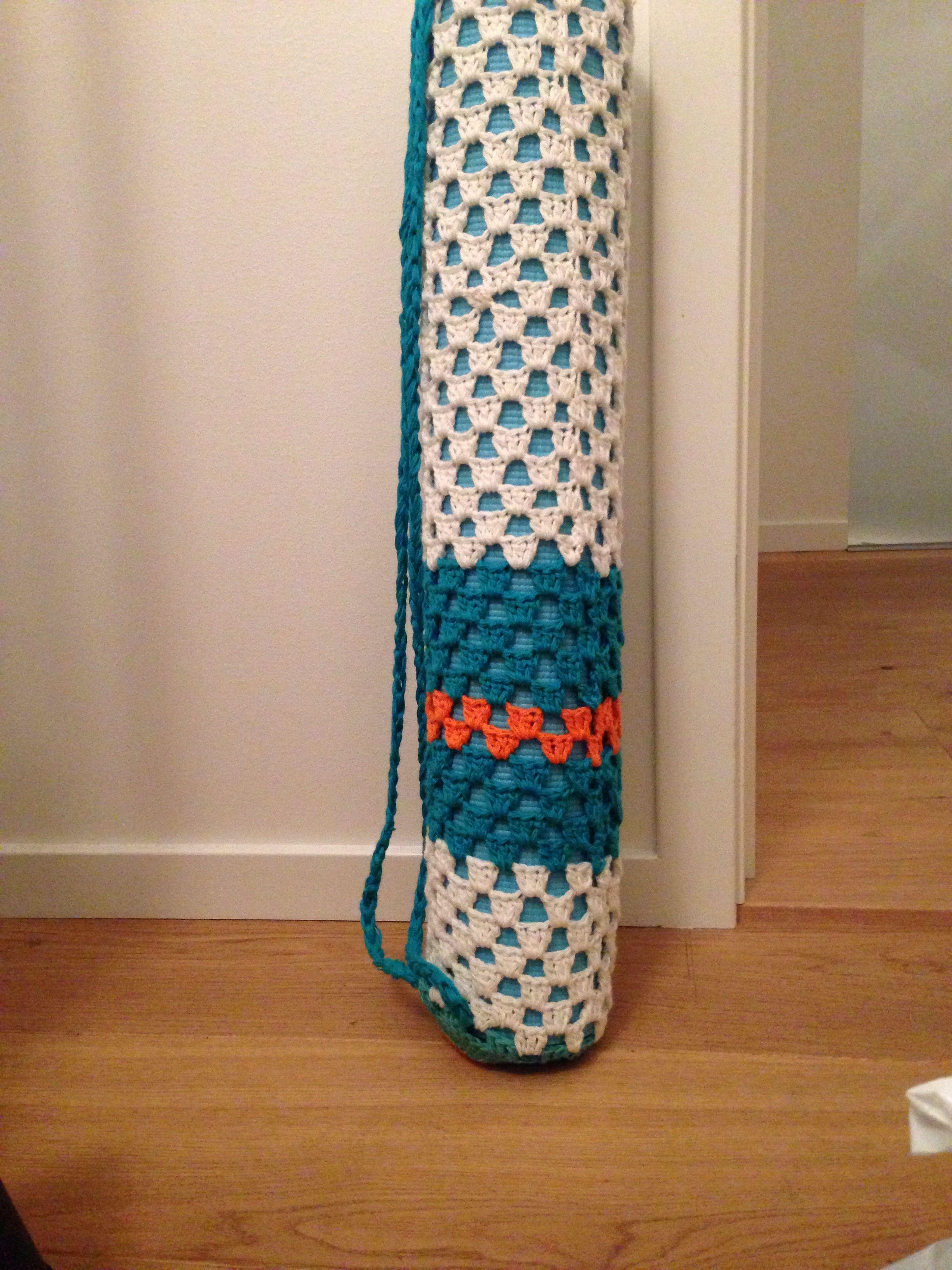 Crochet diy yoga mat bag | Patrones | Pinterest | Ganchillo ...