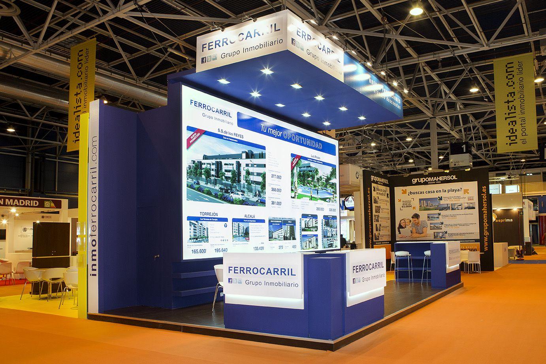 Stand para Grupo Inmobiliario Ferrocarril en la feria Sima Otoño 2014 de Ifema