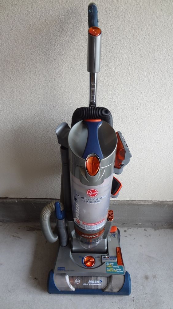 Hoover Mach 5 Multi Chamber Cyclonic Cleaning System Upright Vacuum