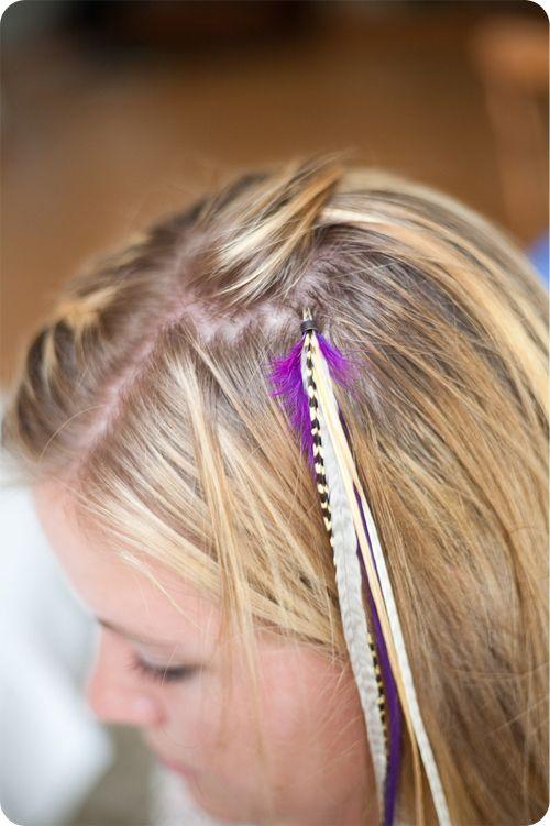 Diy Feather Extensions Mclaughlin Designs Hair Clips Hair Bows