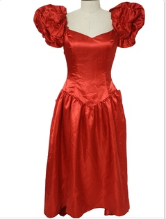 80 s prom dresses were all about the extra puffy sleeves   shiny satin  material. f5f6012dd