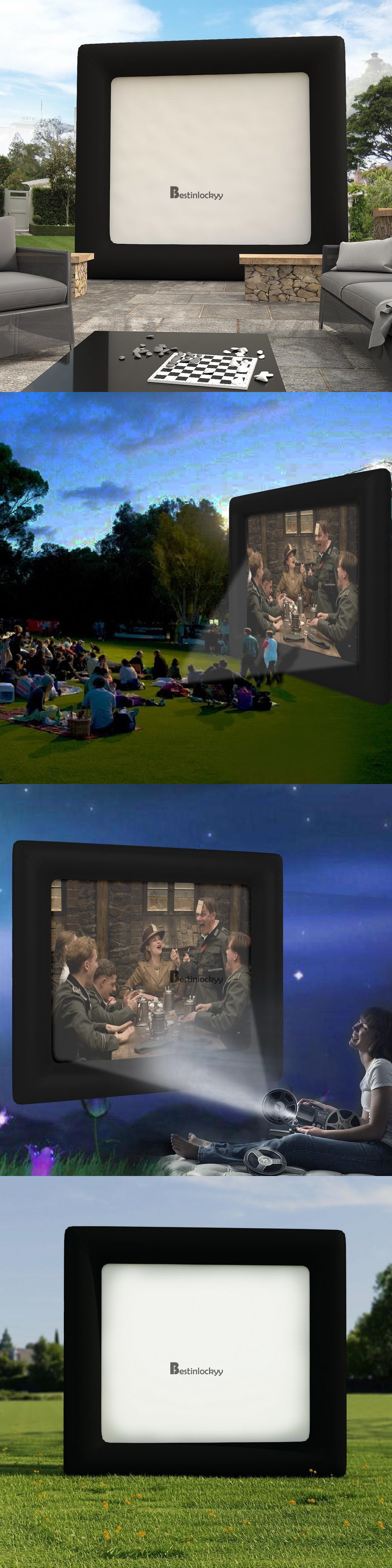 projection screens and material 4x3 5m giant inflatable movie