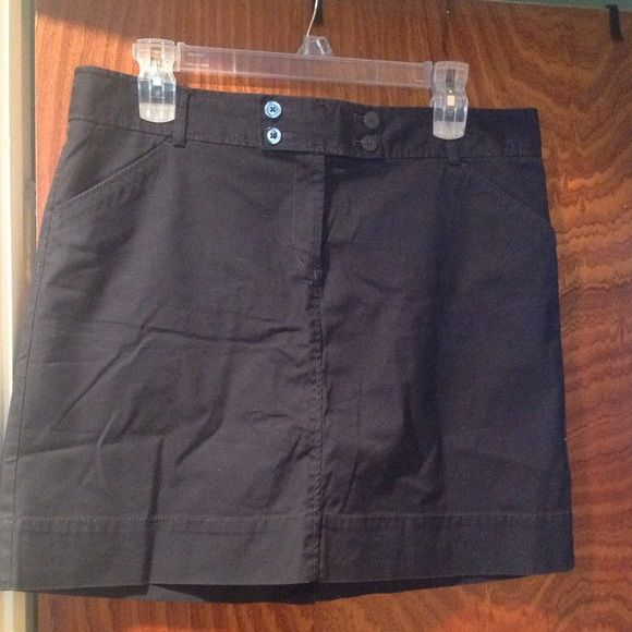 Old Navy: Navy Blue Skirt Worn 1x!!! Navy blue skirt with button & zipper closure. 98% cotton & 2% spandex. 2 front pockets & 2 back flat pockets. The pictures look lighter due to the lighting than what the skirt really is. No Trades....FIRM ON PRICE Old Navy Skirts